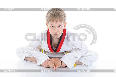Boy in kimono sits on floor | High resolution stock photo |ID 3022110