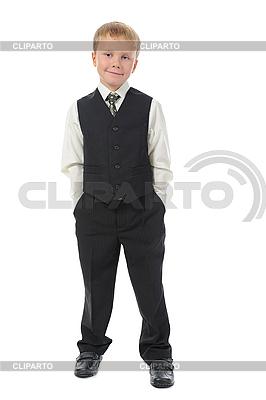 Knabe im modischen Anzug | Foto mit hoher Auflösung |ID 3022114