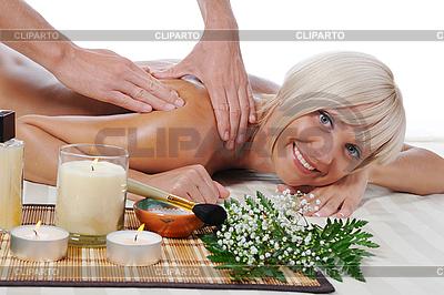 Massage im Wellness-Salon | Foto mit hoher Auflösung |ID 3022151