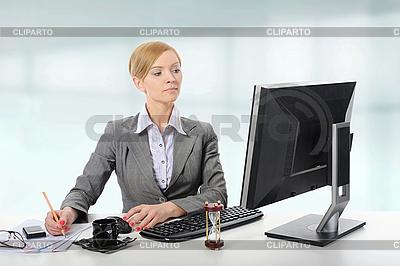 Beautiful blond businesswoman    High resolution stock photo  ID 3022183
