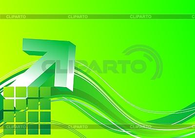 Zielona strzałka 3D | Klipart wektorowy |ID 3022906