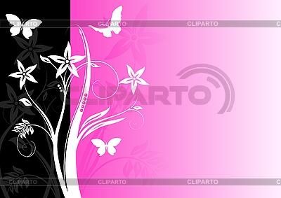 Różowy kwiatowy tle | Klipart wektorowy |ID 3022932
