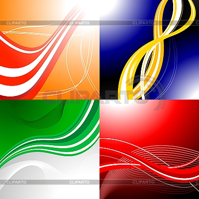 Four colourful abstract backgrounds | Stock Vector Graphics |ID 3022960