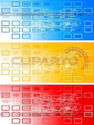 다채로운 배너의 집합 | 벡터 클립 아트 |ID 3022994
