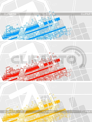 Set of colourful banners | Stock Vector Graphics |ID 3023009