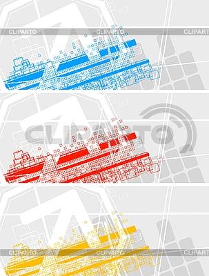 Zestaw kolorowych banerów | Klipart wektorowy |ID 3023009