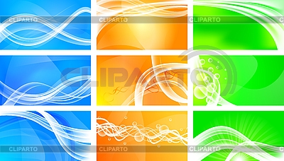 Set of abstract banners | Stock Vector Graphics |ID 3023043