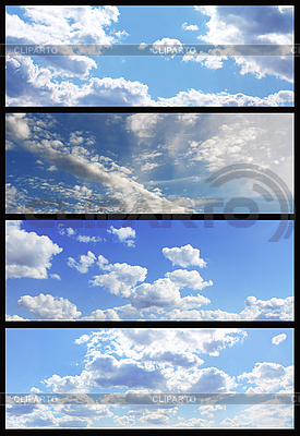 Sky banners collection   High resolution stock photo  ID 3023430