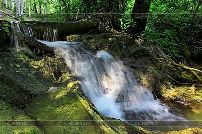 Kleiner Wasserfall im Wald | Foto mit hoher Auflösung |ID 3023620