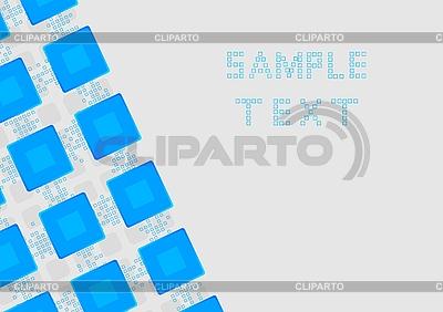 파란색 사각형 | 벡터 클립 아트 |ID 3023767