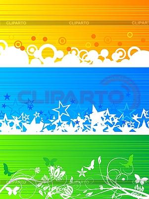 Banderas de colores establecido | Ilustración vectorial de stock |ID 3023808
