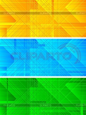 Set of three banners   Stock Vector Graphics  ID 3023814