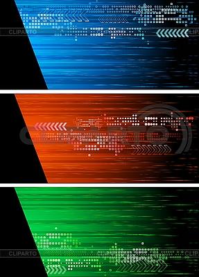 Set der dunklen Werbebanner | Stock Vektorgrafik |ID 3023969