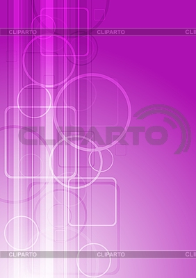 Różowe koła i kwadraty | Klipart wektorowy |ID 3023977