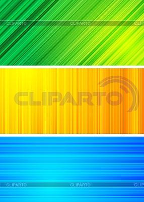 Einfache abstrakte Banner | Stock Vektorgrafik |ID 3023981
