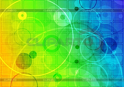 Abstract iridescent background with circles and squares | Stock Vector Graphics |ID 3024057