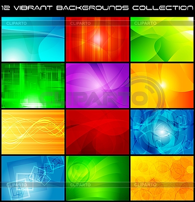 Set of bright abstract backgrounds | Stock Vector Graphics |ID 3024081