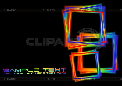Black background with iridescent squares | Stock Vector Graphics |ID 3024157