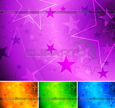 Vibrant star backgrounds | Stock Vector Graphics |ID 3024643