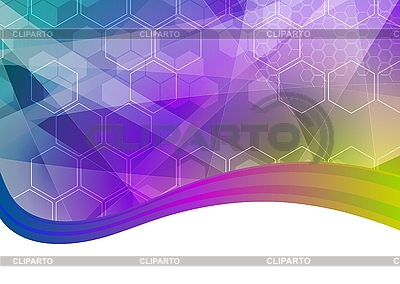 Bright abstraction with hexagons | Stock Vector Graphics |ID 3024675