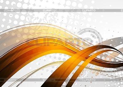 Olas doradas sobre fondo gris | Ilustración vectorial de stock |ID 3024710