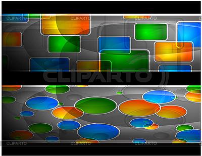 Abstrakte lebendige Werbebanner | Stock Vektorgrafik |ID 3024720