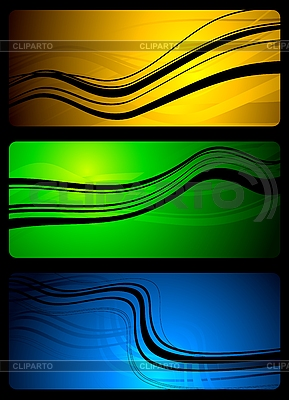 Vibrant abstract banners | Stock Vector Graphics |ID 3024728