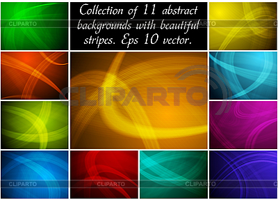 Abstract backgrounds collection | Stock Vector Graphics |ID 3024752