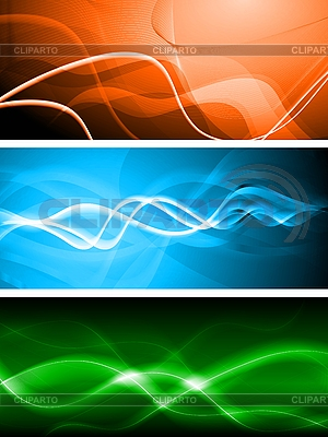 Set der abstrakten Banner | Stock Vektorgrafik |ID 3024812