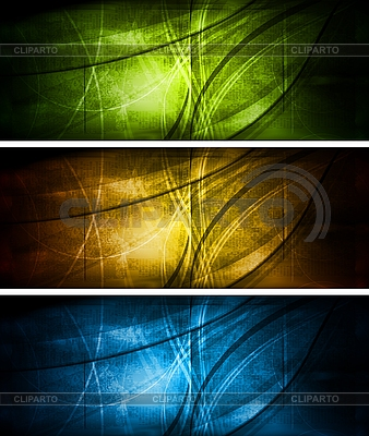 Bright textural banners collection | Stock Vector Graphics |ID 3025071