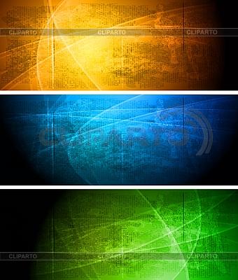 Set der dunklen Werbebanner | Stock Vektorgrafik |ID 3025073