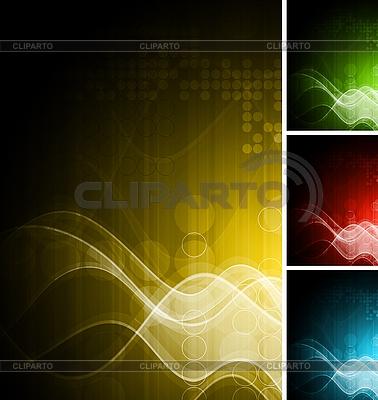 Technical wavy backdrops | Stock Vector Graphics |ID 3025095