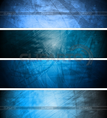 Blue textural banners | Stock Vector Graphics |ID 3025115