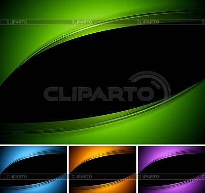 Темные волнистые дизайны | Векторный клипарт |ID 3026185