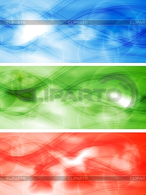 Set der abstrakten Banner | Stock Vektorgrafik |ID 3026203