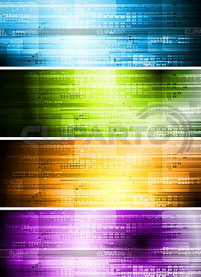 Set of hi-tech banners | Stock Vector Graphics |ID 3026245