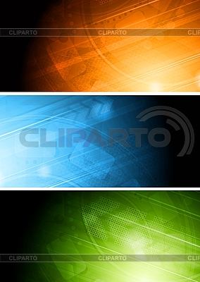 Hi-tech banners collection | Stock Vector Graphics |ID 3026526