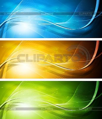 Wellige Werbebanner | Stock Vektorgrafik |ID 3026578