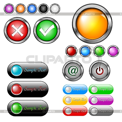 Buttons collection | Stock Vector Graphics |ID 3027778