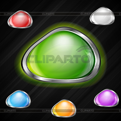 Glossy buttons | Stock Vector Graphics |ID 3027820