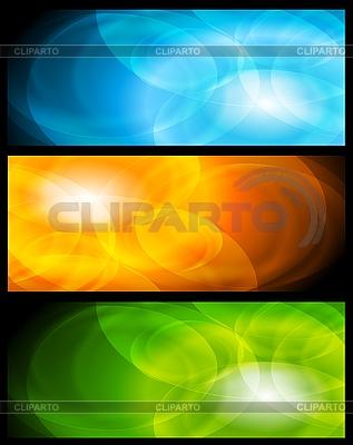 Set der abstrakten Banner | Stock Vektorgrafik |ID 3027827
