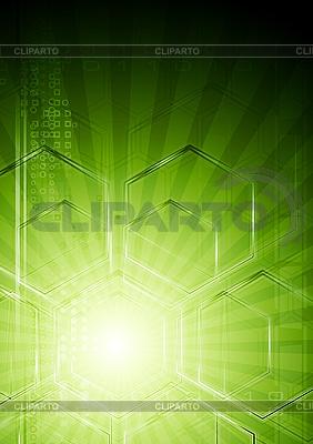 녹색 기술 추상화   벡터 클립 아트  ID 3027856