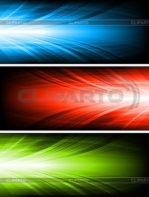 Set der abstrakten Werbebanner | Stock Vektorgrafik |ID 3029066