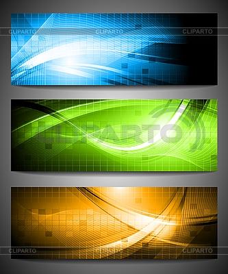 Set von drei Werbebanner   Stock Vektorgrafik  ID 3029072