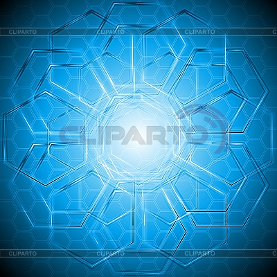 Tech background with hexagon texture | Stock Vector Graphics |ID 3032410