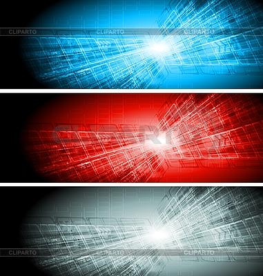 Technologia banery kolekcja | Klipart wektorowy |ID 3051358