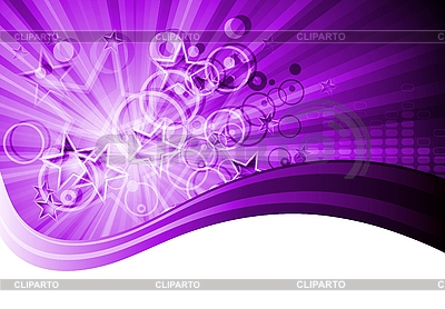 Violet abstract card with stars and circles | Stock Vector Graphics |ID 3076670