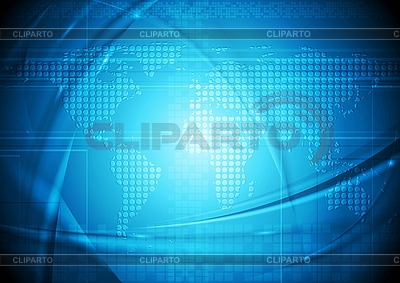 Abstract technical background with world map | Stock Vector Graphics |ID 3081947