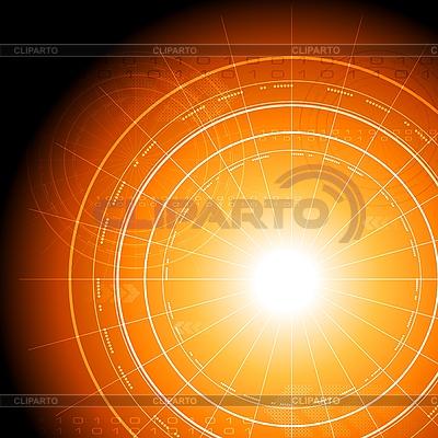 Orangefarbenes High-Tech-Design | Stock Vektorgrafik |ID 3107199