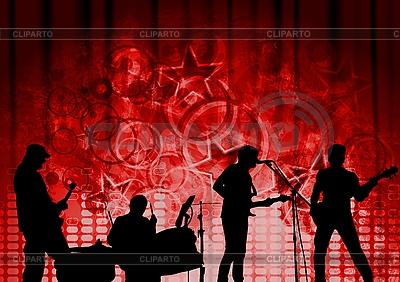 红色音乐设计 | 向量插图 |ID 3123641